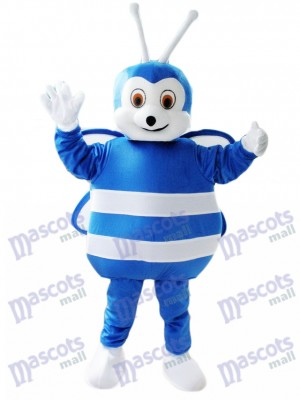Blue and White Bee Mascot Costume Insect