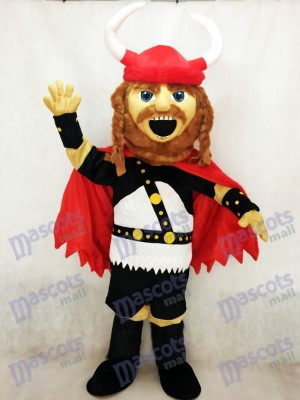 Red Pirate Viking Mascot Costume People