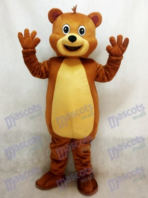 Fit Brown Bear Mascot Costume Animal