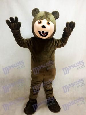 Dark Brown Grizzly Bear Mascot Costume