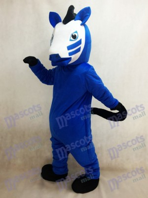 Royal Blue Trojan Horse Mascot Costume Animal