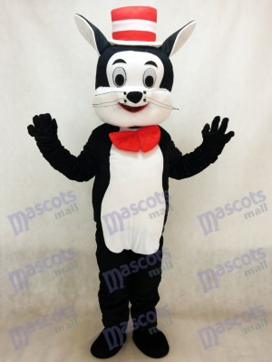 Cat in the Hat Mascot Costume Cartoon Animal