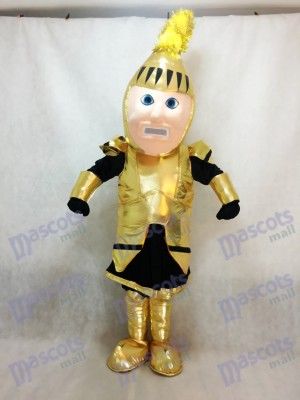 Golden Adult Knight College of St Rose Mascot Costume