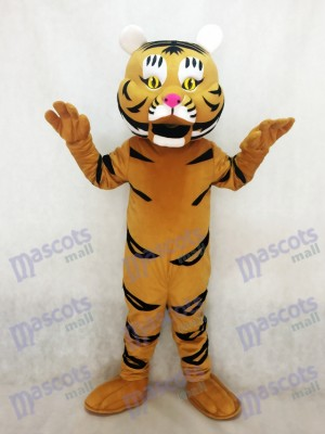 New Yellow Orange Tiger Ted Mascot Costume