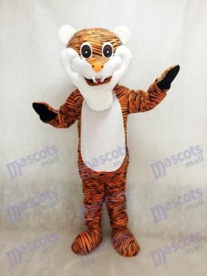Reddish Brown Stripe Tiger Adult Mascot Costume Animal