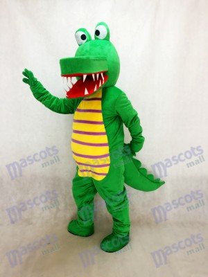 Cartoon Green Crocodile Mascot Costume Animal
