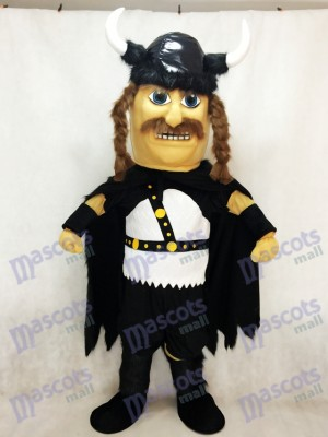 New Odin Viking Plush Mascot Costume with Black Cloak