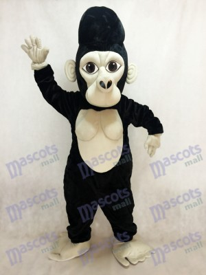 Black Silverback Gorilla Mascot Costume Animal