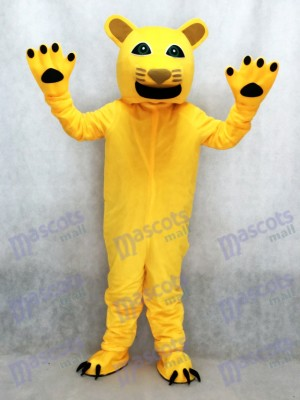 New Yellow Cougar Mascot Costume Animal
