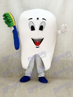 Tooth Mascot Adult Costume Tooth Dental Care Birthday Party Fancy Dress Outfit