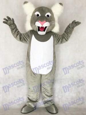 Cute Grey Wildcat Wild Cat Mascot Costume Animal