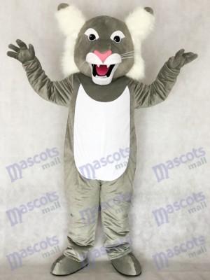 Cute Grey Wildcat Wild Cat Mascot Costume Animal