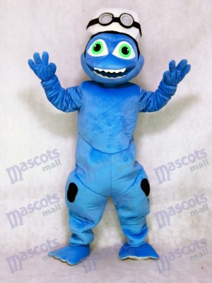 Cute Crazy Frog Mascot Costume Fancy Dress Outfit Animal