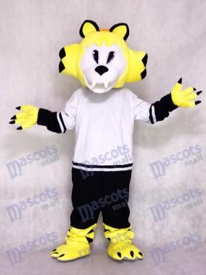 Nashville Predators Ice Hockey Team Mascot Costume Yellow Saber-toothed Cat Animal