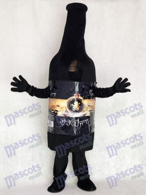 Drink Black Vodka Wine Bottle Mascot Costume Party