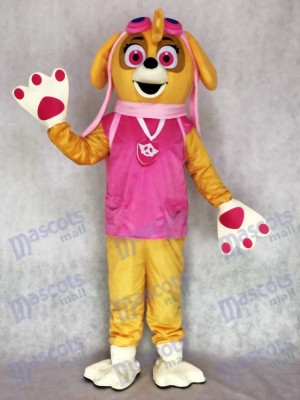 Paw Patrol Skye Adult Mascot Costume Pink Dog Cartoon Character