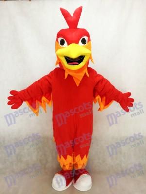 Red Phoenix Mascot Costume