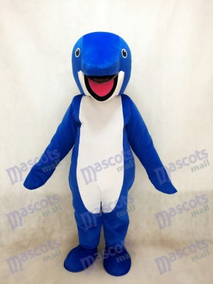 Cute Blue Whale Costume Mascot