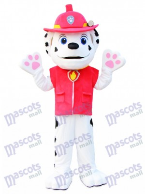 Marshall Paw Patrol Dalmatian Dog Mascot Costume Cartoon Anime