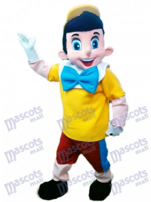 Pinocchio Mascot Costume Cartoon Character