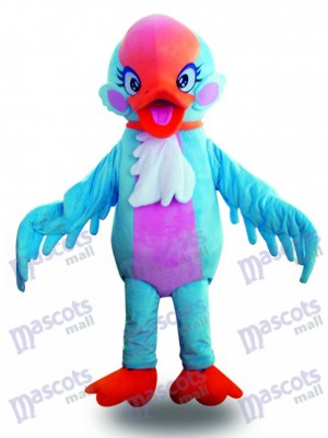 Red Head Blue Swan Bird Mascot Costume Animal