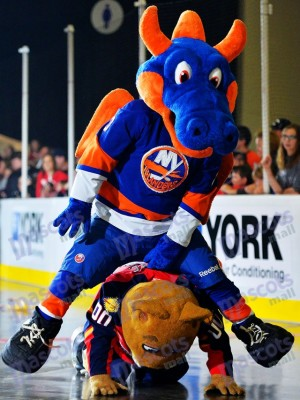 Sparky the Dragon for New York Islanders Mascot Costume Animal