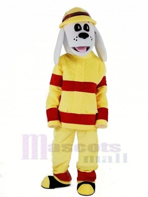 New Sparky the Fire Dog Mascot Costume Cartoon