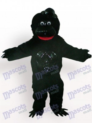 Orangutan With Black Hat Animal Mascot Costume