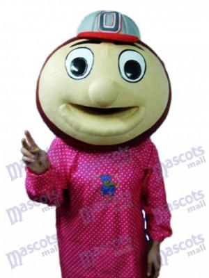 Baseball Monkey Head Mascot Adult Costume