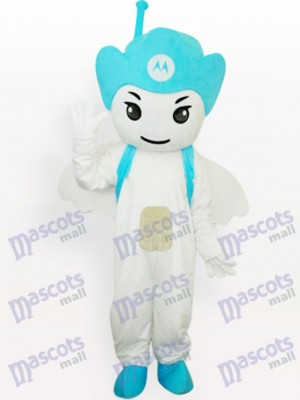 Blue Moto Angel Party Adult Mascot Costume