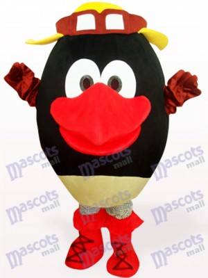 Black Round Head Doll Plush Adult Mascot Costume