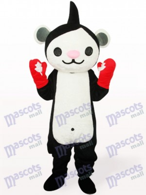 Black Miga Anime Adult Mascot Costume