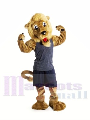 Handsome Brown Lion Mascot Costumes Animal