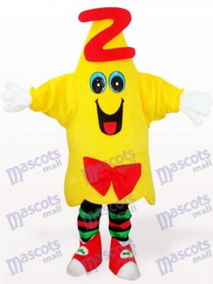Yellow Star Doctor Cartoon Adult Mascot Costume