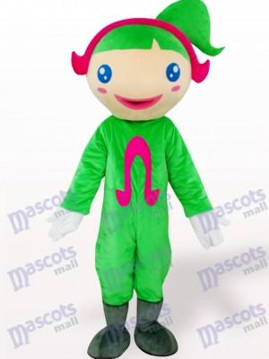 Green Ohm Cartoon Adult Mascot Costume