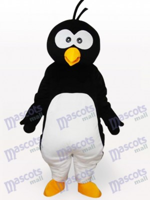 Black Penguin Short Plush Adult Mascot Costume
