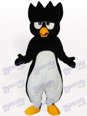 White Belly Black Penguin Adult Mascot Costume