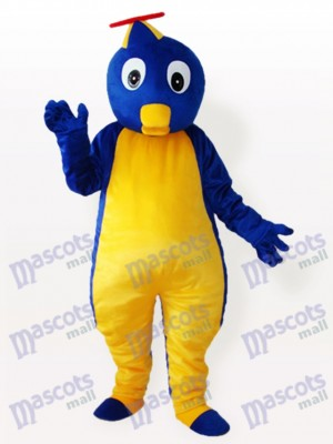 Blue Penguin in Flying Hat Adult Mascot Costume