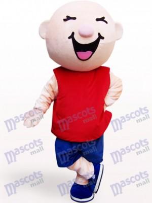 Round Head Boy Cartoon Adult Mascot Costume