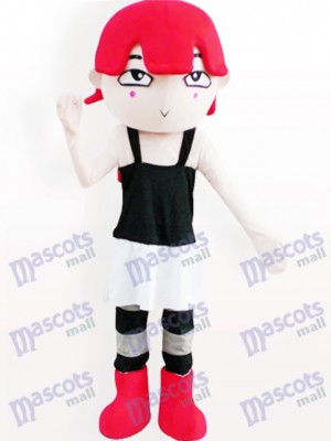 Red Haired Girl Cartoon Adult Mascot Costume