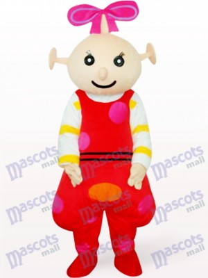 Red Female Beibei Anime Adult Mascot Costume