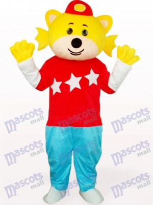 Lovely Boy In Red Clothes Adult Mascot Costume