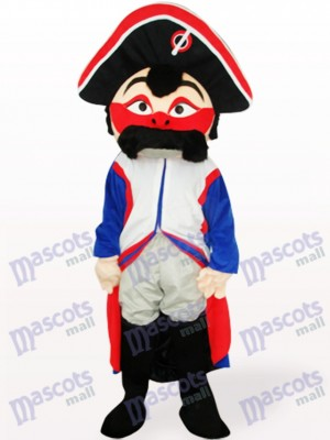 Red Face Pirate Adult Mascot Costume