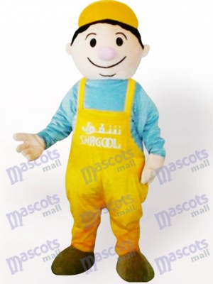 Miner Boy Cartoon Adult Mascot Costume