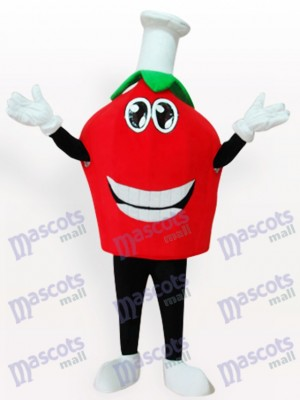 Red Strawberry Short Fruit Mascot Costume