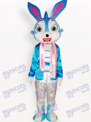 Easter Blue Rabbit Animal Adult Mascot Costume