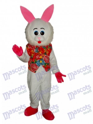 Easter Furry Face Rabbit Mascot Adult Costume Animal