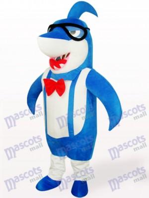 Blue Big Head Shark Animal Adult Mascot Costume