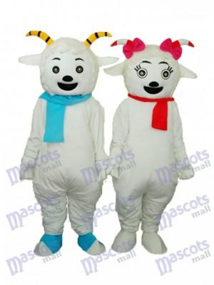 Pleasant Goat & Beauty Sheep Mascot Adult Costume Animal