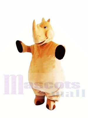 Brown Lightweight Rhino Mascot Costumes